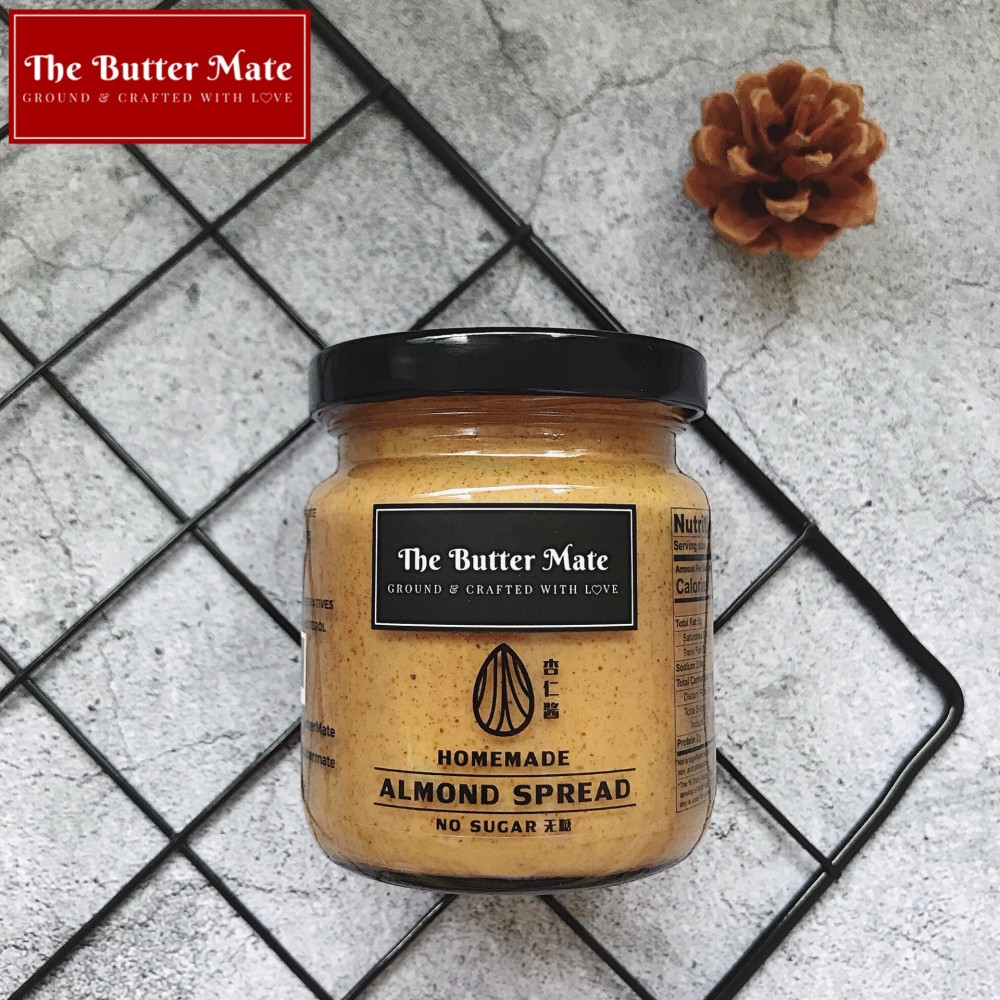 The Butter Mate Homemade Unsweetened Almond Spread - 190g