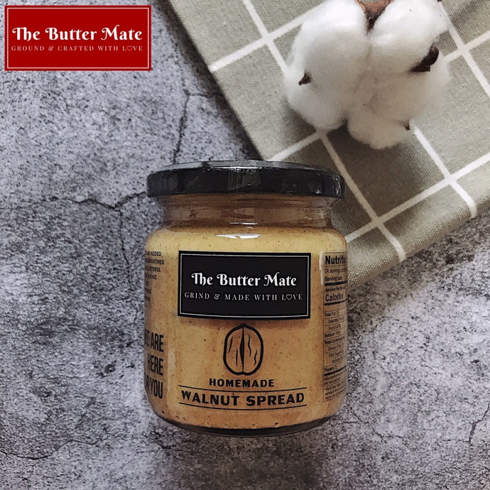 The Butter Mate Homemade Unsweetened Walnut Spread - 190g