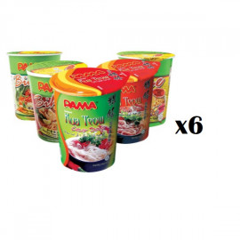 image of [New Item] 6 Cups Of PAMA Instant Cup Noodles In Random Flavor