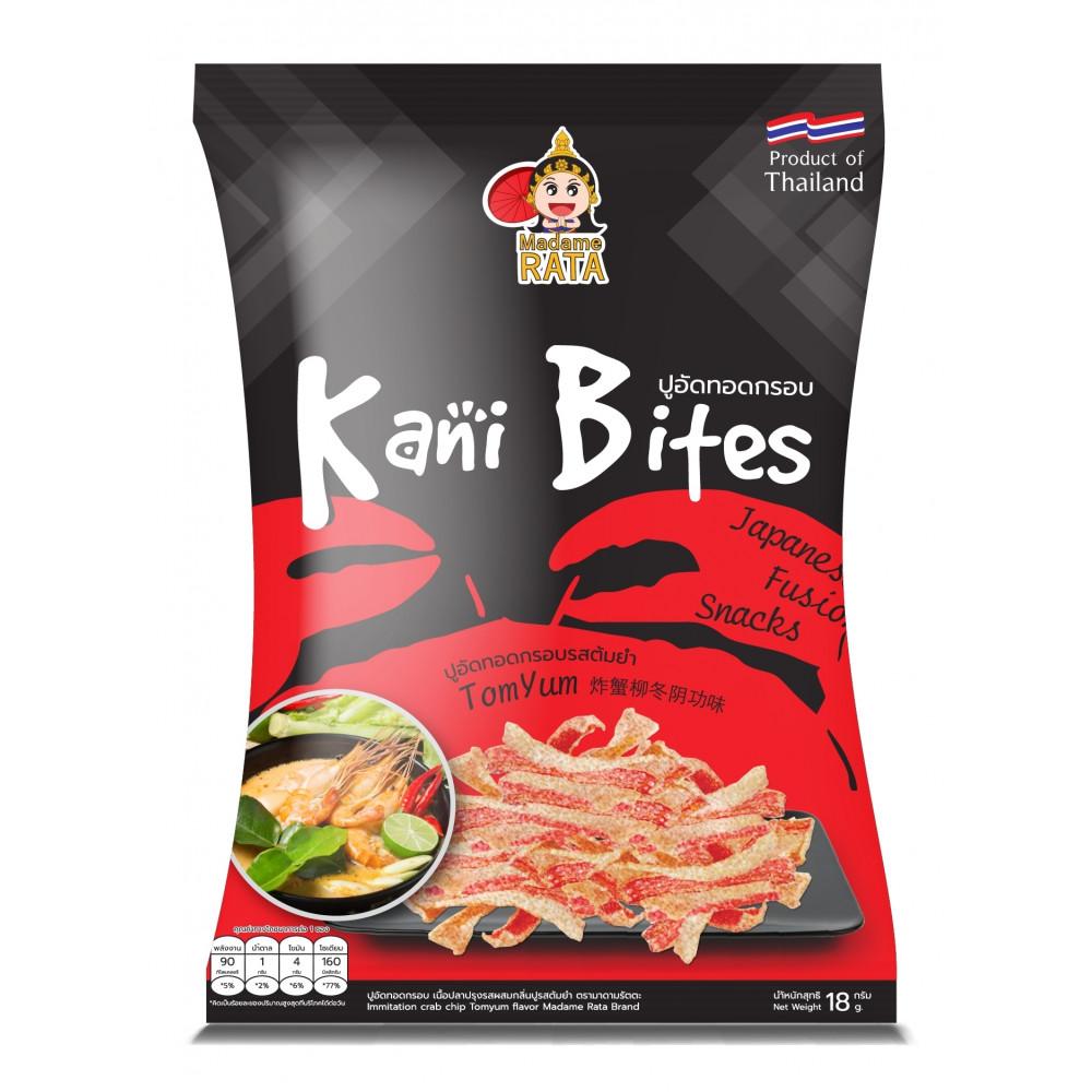 Halal Crispy Crab Chip TOMYUM Flavor   KANI BITES - Madame RATA  (18gx1 per packet)