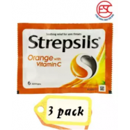 image of Strepsils Vitamin C Orange 6s x 3pkt