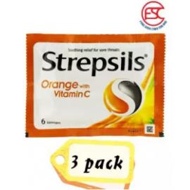image of Strepsils Vitamin C Orange 6s x 3pkt