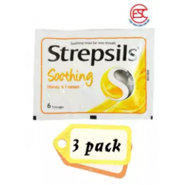 image of Strepsil's Honey Lemon 6s x 3pck