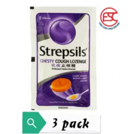 image of Strepsils Chesty Cough 8s x 3 pack