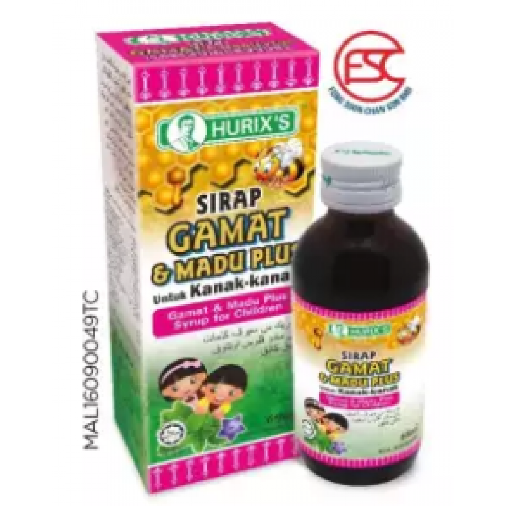 Hurix's Ubat Sirap Batuk Kanak-kanak Gamat & Madu 60ml