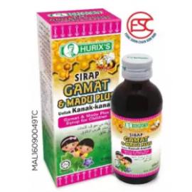 image of Hurix's Ubat Sirap Batuk Kanak-kanak Gamat & Madu 60ml
