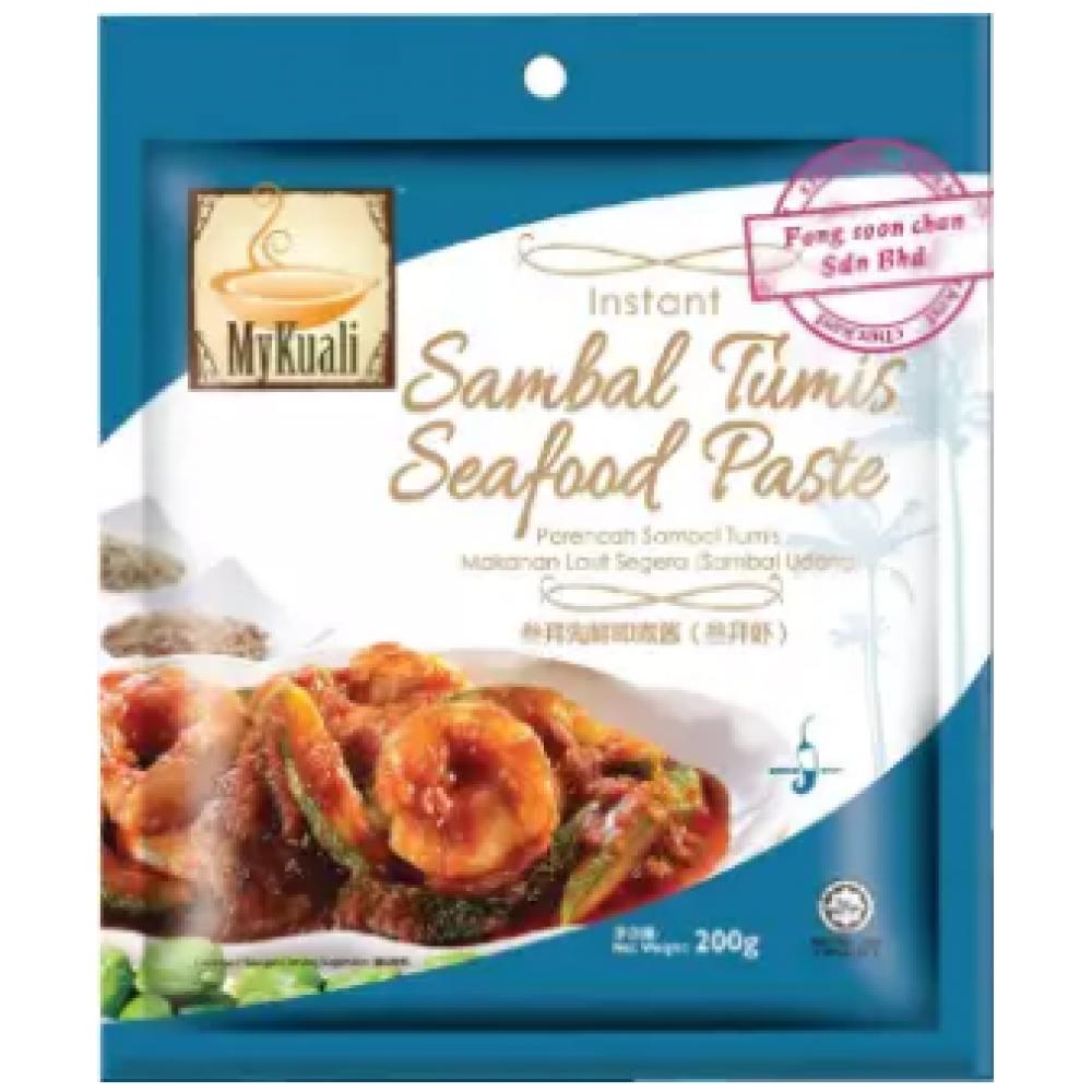 [FSC] Mykuali Instant Sambal Tumis Seafood Paste 200gm (pack)