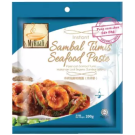 image of [FSC] Mykuali Instant Sambal Tumis Seafood Paste 200gm (pack)