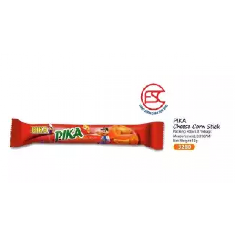 Bika Pika Cheese Corn Sticks 11gm x 40 stick