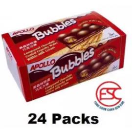 image of [FSC] Apollo Bubbles Chocolate Wafer 24pieces x 33gm