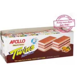 image of [FSC] Apollo Twins Cocoa Layer Cake 24pieces x 18gm (Perbox)