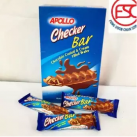 image of [FSC] Apollo Checker Bar Chocolate Coated & Cream Filled Wafer 24pieces