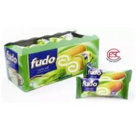 image of [FSC] Fudo Pandan Flavour Swiss Roll Cake 18gm x 24 pieces