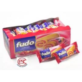 image of [FSC] Fudo Strawberry Flavour Swiss Roll Cake 18gm x 24 pieces