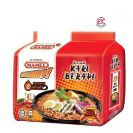 image of Mamee SLLRRP Noodles Curry Berapi 76gm x 8pkt x 5pc