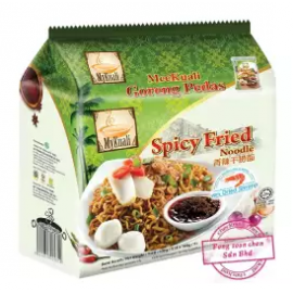 image of [FSC] Mykuali Spicy Fried Noodle 100gm x 4pcs (Bundle)