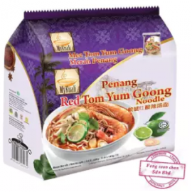 image of [FSC] Mykuali Red Tom Yum Goong Noodles 105gm x 4pck (Bundle)