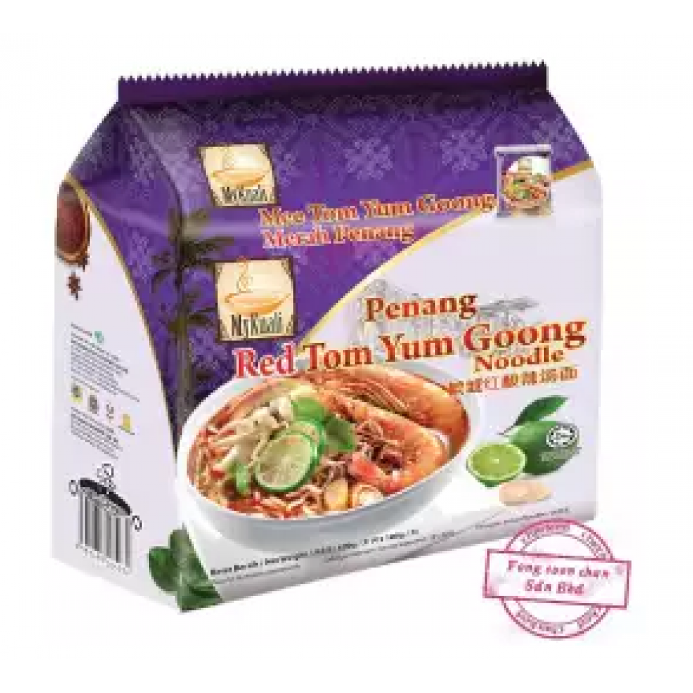 [FSC] Mykuali Red Tom Yum Goong Noodles 105gm x 4pcs x 12pkt