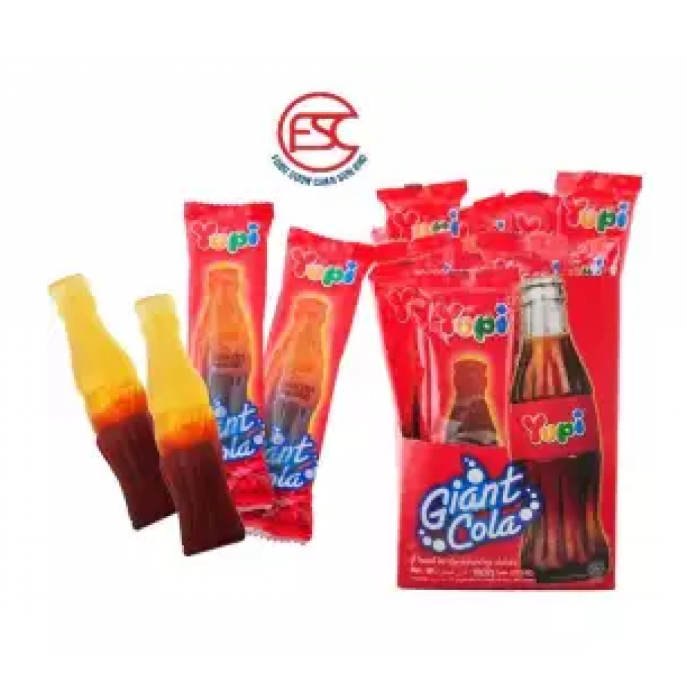 [FSC] Yupi Giant Cola Flavour Gummy Jelly 32gm x 18 pieces