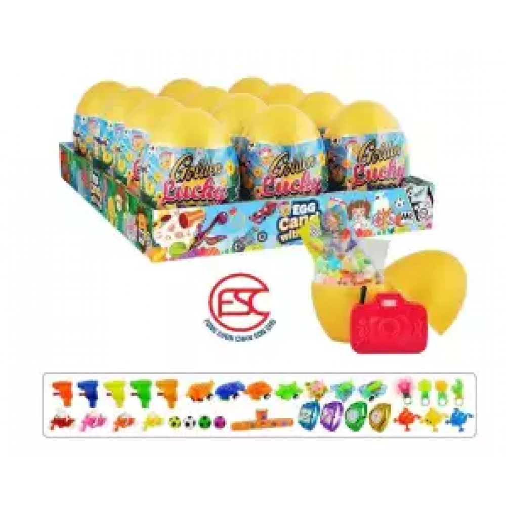 [FSC] Beardy Golden Lucky Egg Toy With Candy 12 pieces