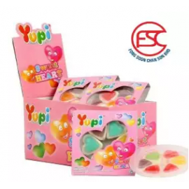 image of [FSC] Yupi Mini Sweet Heart Gummy Jelly 15gm x 12 pieces