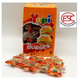 image of [FSC] Yupi Mini Burger Gummy Party Box 9gm x 72 pieces