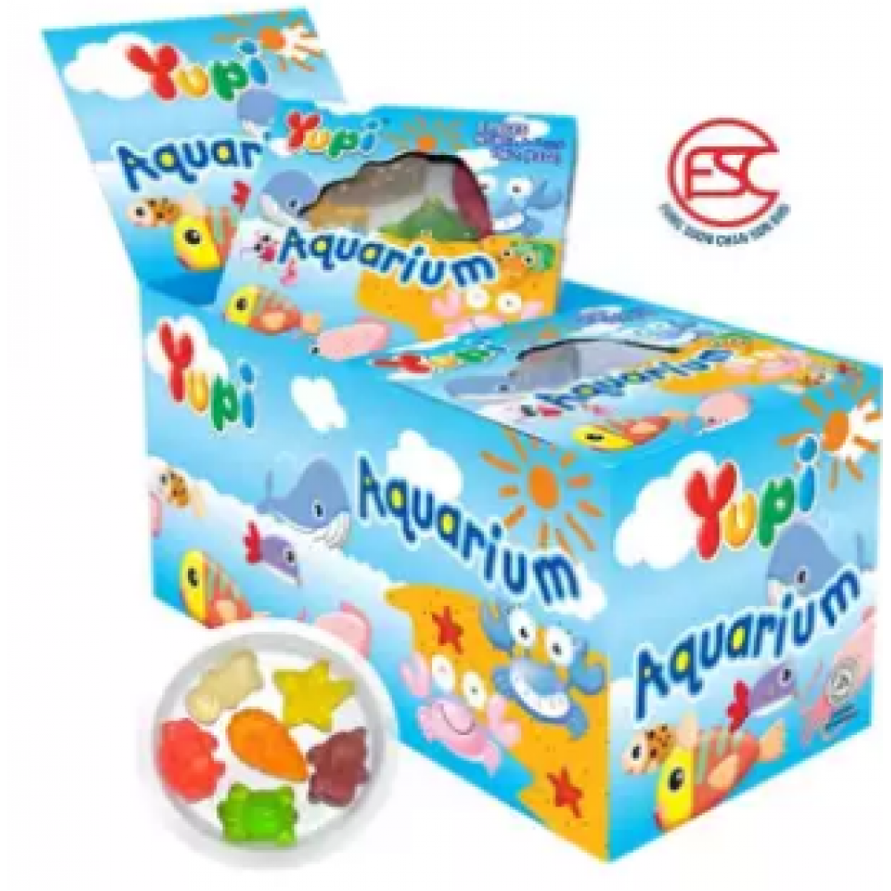[FSC] Yupi Mini Aquarium Gummy Jelly 15gm x 12 pieces