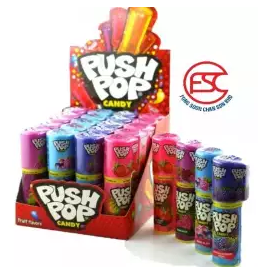 image of Delfi Push pop Candy 14gm x 20 stick (assorted flavour)