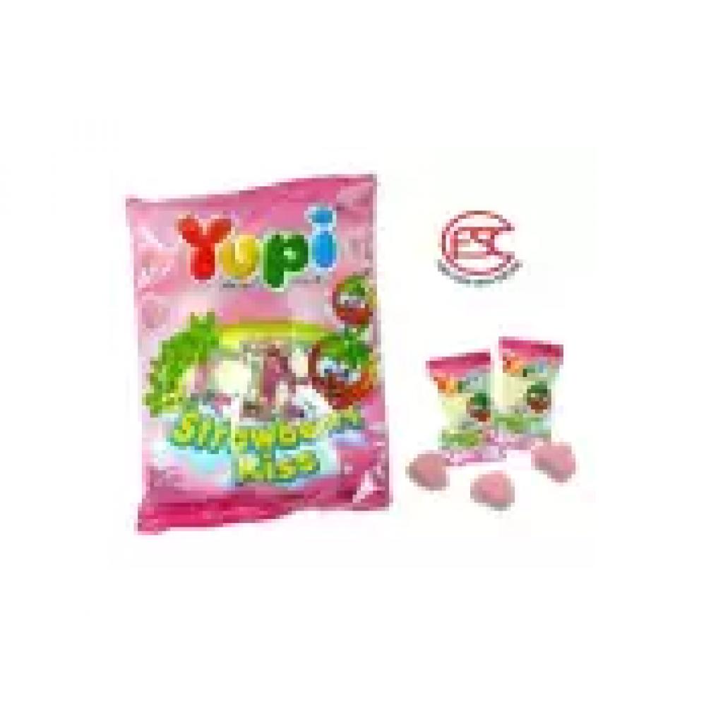 [FSC] Yupi Mini Gummy Strawberry Kiss(Love Shap) 120gm