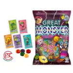 [FSC] Beardy Great Monster Assorted Fruit Candy 140gm