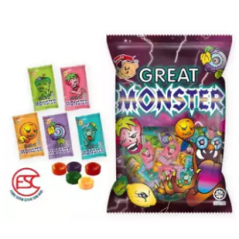 image of [FSC] Beardy Great Monster Assorted Fruit Candy 140gm