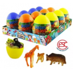 [FSC] Beardy Lucky Egg Animal Safari Toy With Candy 12pieces