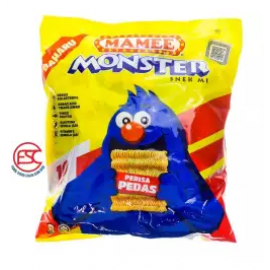 image of Mamee Monster Snek Mi Party pack 25gm x 8 pieces Hot&spicy Flavour