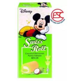 image of [FSC] Disney Swiss Roll Cake Pandan Flavour 6pieces x 20gm