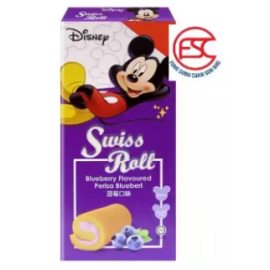 image of [FSC] Disney Swiss Roll Cake Blueberry Flavour 6pieces x 20gm
