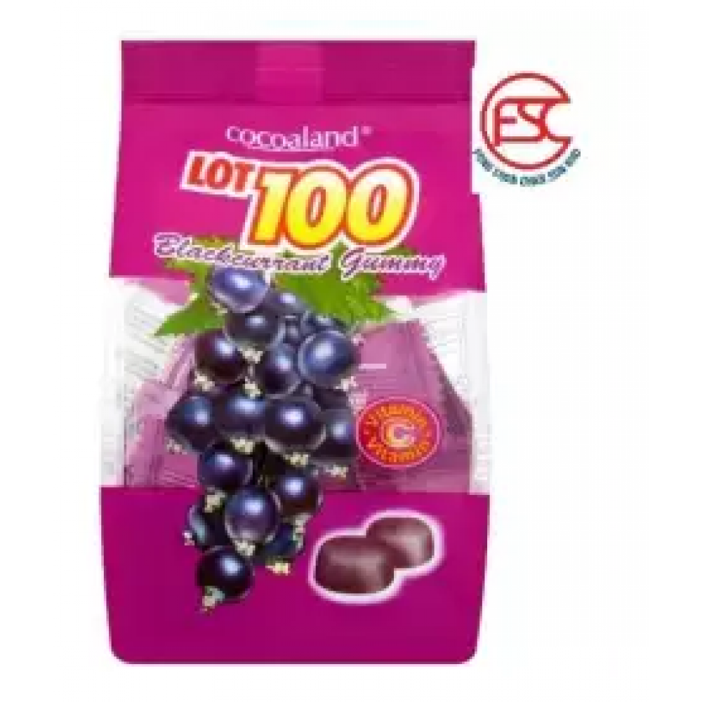 [FSC] [2 pack] Lot 100 Chewy Gummy 150gm blackcurrants Flavour