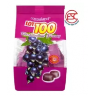 image of [FSC] [2 pack] Lot 100 Chewy Gummy 150gm blackcurrants Flavour