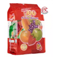 image of [FSC] [2 pack]Lot 100 Chewy Gummy 150gm Assorted Flavour