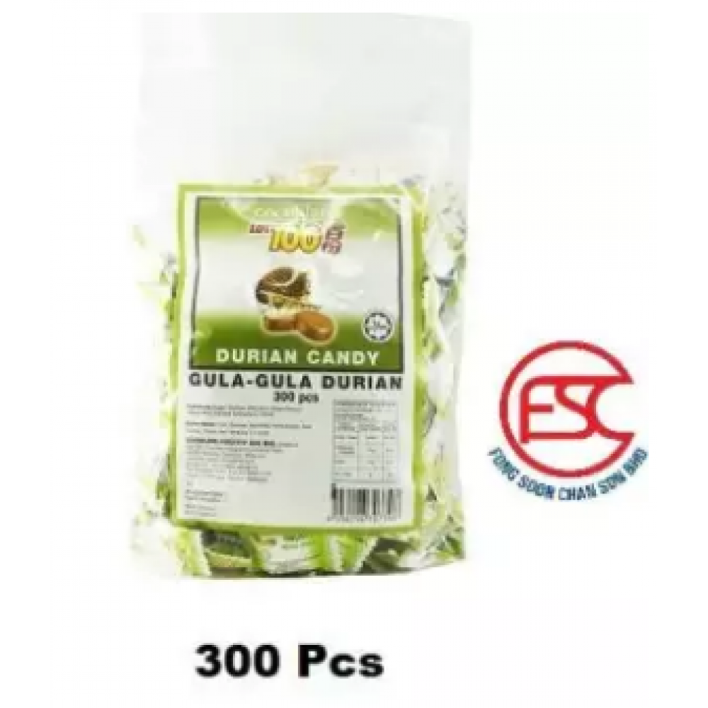 Lot 100 Durian Flavours Candy 300pcs