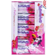 image of [fFSC] Disney Yummies Corn Roll With Strawberry Coating 24pieces x 6gm