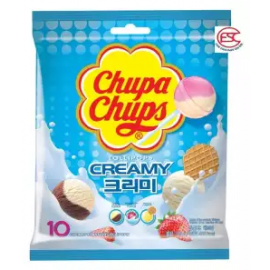 image of Chupa Chups lollipop (Creamy Flavours) gift pack 10stick