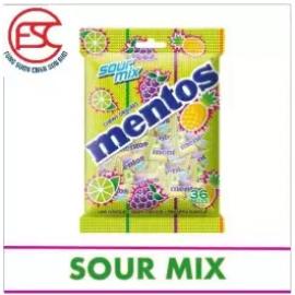 image of [FSC] Mentos Sour Mix Chewy Candy(Pouch Bag) 36pieces x 2 Bag