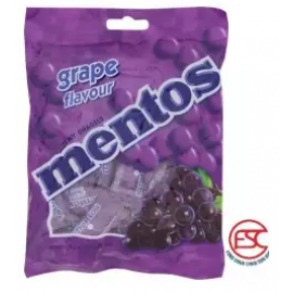 image of [FSC] Mentos Grape Chewy Candy(Pouch Bag) 36pieces x 2Bag