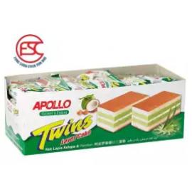 image of [FSC] Apollo Coconut & Pandan Twins Layer Cake 24pieces x 18gm