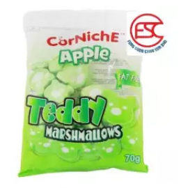 image of [FSC] Corniche Teddy Apple Flavour Marshmallow 70g x 2pck