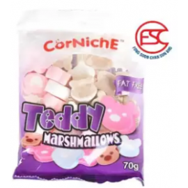 image of [FSC] Corniche Teddy Assorted Marshmallow 70g x 2pck