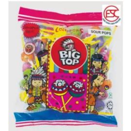 image of [FSC] Big Top Sour Mix Fruit Lollipop Candy 50pieces
