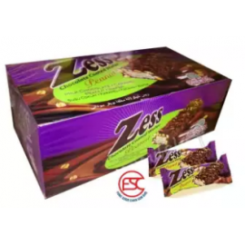 image of [FSC] Zess Chocolate Coated Wafer(Peanut Wafer) 24pieces x 22gm