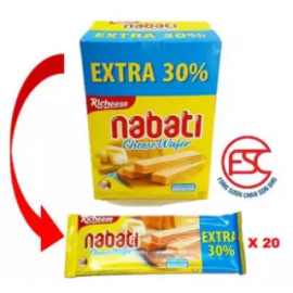 image of [FCS] Richeese Nabati Cheese Wafer 20pieces x 18gm