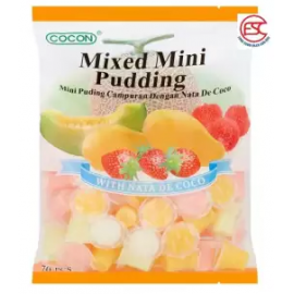 image of [FSC] Cocon Mini Pudding with Nata De Coco Assorted Fruit Flavour 70pieces x 15gm